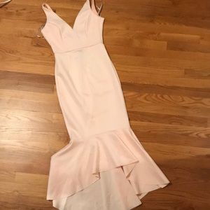ASOS: Baby Pink Dress with Flute Bottom